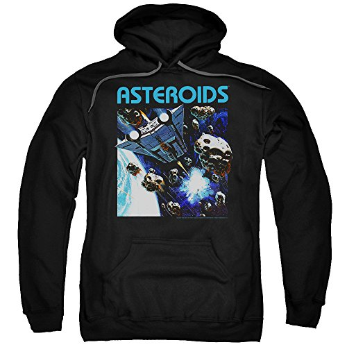 Atari 2600 Asteroids Unisex Adult Hoodie, Black, S to 5XL