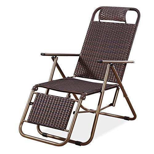 QIDI Chaise Pliante Tabouret Pliant Lounge Chair Rotin Moderne Simplicité Pliable Facile à Ranger Bureau Balcon Plage Pas Besoin d'installer (Couleur : PN1)