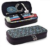 Estuche de lápices Oboe Blues Bolsa de almacenamiento de gran capacidad Papelería Organizador Estuche de lápices con cremallera para escuela y oficina