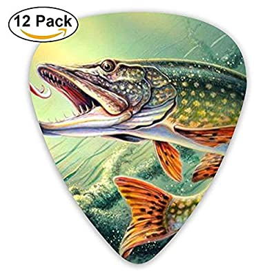 Accessories Assorted Fishing Lure Acoustic Guitar Picks 12 Packs