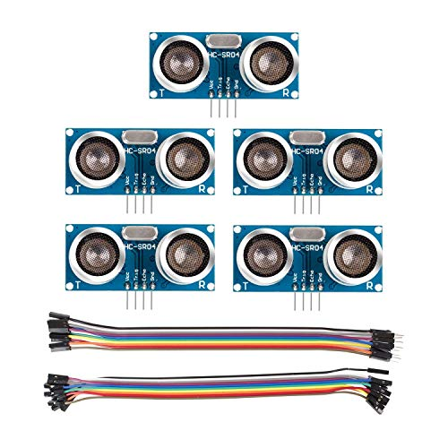 SunFounder Ultrasonic Module HC-SR04 Distance Sensor for Arduino R3 Mega2560 Duemilanove Nano Robot Rapsberry Pi 4B 3B+, 3B, 2 Model B & 1 Model B+