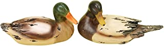Deco 79 Polystone Decory Duck, 14 by 12-Inch, Set of 2
