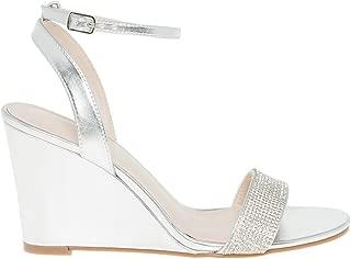 LE CHÂTEAU Embellished Metallic Wedge Sandal