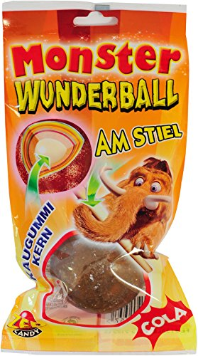 DOK Monster Wunderball am Stiel Cola, 15er Pack (15 x 80 g)