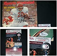 Oklahoma Sooners Billy Sims Autographed Signed Sports Illustrated Auto Ou JSA Certified