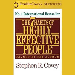 The 7 Habits of Highly Effective People                   著者:                                                                                                                                 Stephen R. Covey                               ナレーター:                                                                                                                                 Stephen R. Covey                      再生時間: 3 時間  22 分     2件のカスタマーレビュー     総合評価 5.0