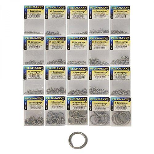Rosco Sprengringe Edelstahl, Sprengring mit 4,3-29,5mm Durchmesser zur Auswahl, Springringe, rostfrei, Süßwasser & Salzwasser geeignet, Größe:10