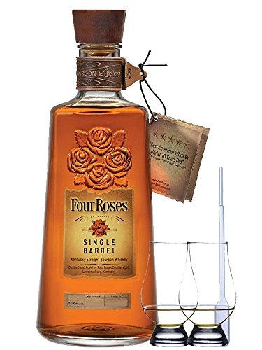 Four Roses Single Barrel Selection Straight Bourbon 0,7 Liter + 2 Glencairn Gläser + Einwegpipette 1 Stück