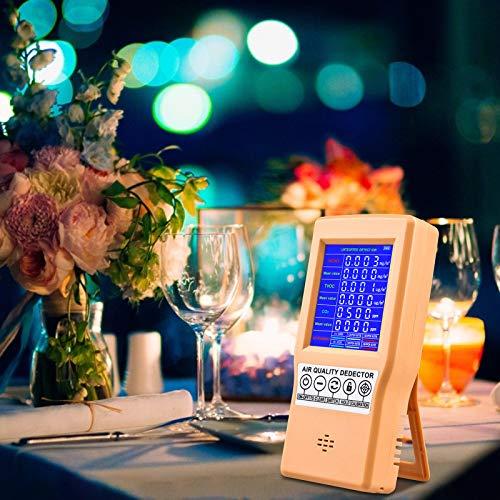 KKTECT detector de calidad del aire, CO2 formaldehído (HCHO) detector TVOC multifuncional detector de calidad del aire portátil digital analizador de aire sensor de polvo dispositivo