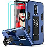 LeYi Compatible for LG Stylo 5 Case, Stylo 5 Phone Case with Tempered Glass Screen Protector [2 Pack], LeYi Military-Grade Shockproof Built-in Kickstand Car Mount Cover Case for LG Stylo 5, Blue