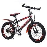GZMUK Bicicleta para Niños De 18/20/22/24 Pulgadas para Niñas De 3-10 Años, Estructura De Acero Al Carbono,Asiento Y Freno De Mano Ajustables,Rojo,24 in