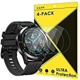 CAVN Protector de pantalla compatible con Huawei Watch GT2 46mm, 4 unidades, impermeable,...