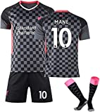 GXT Jersey Men Boy's 20-21 Liverpool Football # 10 Sadio Mane Fans Jersey Sets Sports Traje Cómodo (Size : 6~7Years)
