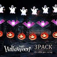 3-Pack Minetom Halloween String Lights