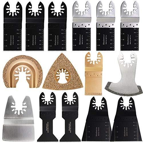 Affordable Oscillating Tools 15Pcs Oscillating Multitool for Fein Bosch MultiMaster Multitool Saw Bl...