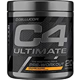 Cellucor C4 Ultimate Pre Workout Powder Orange Mango | Sugar Free Preworkout Energy Supplement for Men & Women | 300mg Caffeine + Beta Alanine + Creatine | 20 Servings