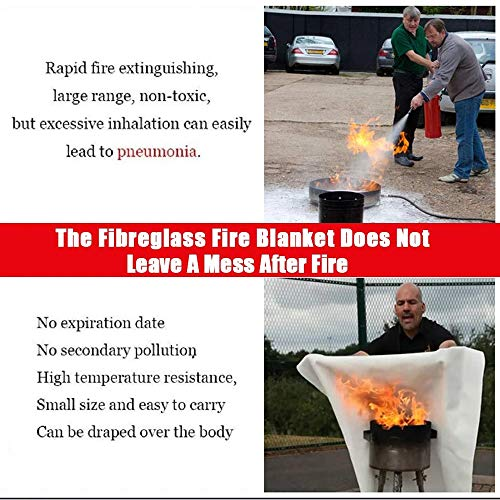 Fire Blanket Fire Guardian Blanket and Fire Blanket Fire Suppression Blankets for Kitchen, Bedroom, People- Energency Safety (40