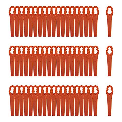 60 Stück Rasentrimmer Ersatzmesser,Kunststoff Ersatzmesser Trimmer,Rasentrimmer Messer,Rasenmäher Klinge Kunststoff,Rasentrimmer Zubehör,Kunststoffmesser für Akku-Rasentrimmer