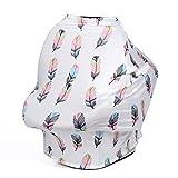 CYNDIE Multifunctional Nursing Breastfeeding Cover Baby Buggy Sun Canopy Seat Cushion Stylish Shawl