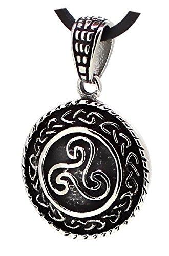 Anhänger keltische Triskele Ø 24 mm aus Edelstahl, Amulett Kettenanhänger