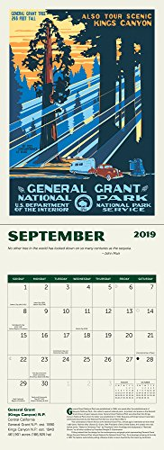 National Parks Poster Art Of The Wpa Wall Calendar 2019 Buy Online In Barbados At Desertcart