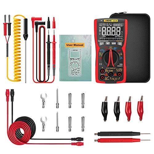 ATATMOUNT Multímetro Digital ANENG-SZ18 9999 Probador analógico Profesional de Verdadero Valor eficaz,...