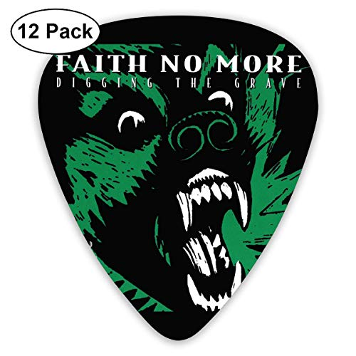 TUIU Faith No More Guitar Picks (12er Pack) für E-Gitarre, Akustikgitarre, Mandoline und Gitarrenbass