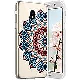 Compatible avec Samsung Galaxy J7 2018 Coque en Silicone Transparente Motif Mandala Fleur Jolie...