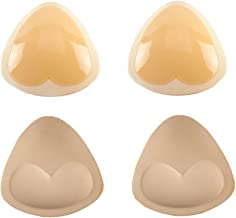 2 Pairs Triangles Sticky Bra Pads Self-Adhesive Silicone Push Up Pads for Bra Bikini