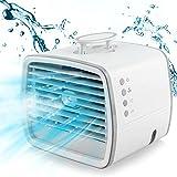 UBEGOOD Mini Refrigeratore d'aria, Condizionatore Portatile 3 IN 1 Personale Cooler Ventilatore Evaporativo Refrigeratore D'aria Umidificatore velocità Regolabili 7 Colori Per Ufficio Domestico