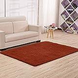 DYEWD - Carpet para cama de dormitorio o salón, color marrón
