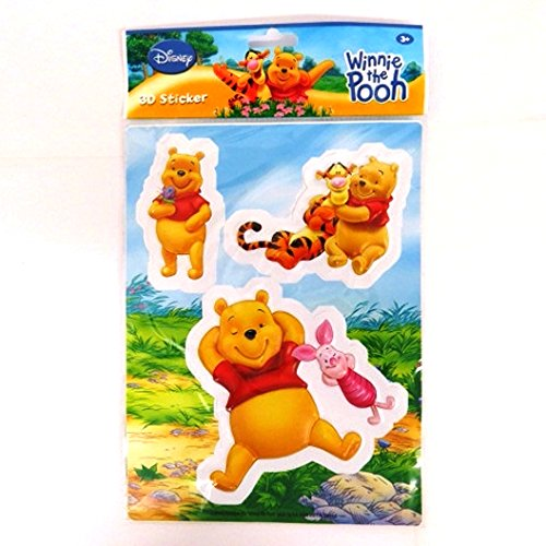 Eurosales BV Disney 3D Coloré Décoration Autocollants - Winnie The Pooh, Piglet and Tigger