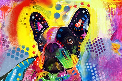Enjoy it French Bulldog Puzzle Featuring Pop Art of Dean Russo - 300 Piece Jigsaw Puzzle for Kids & Adults