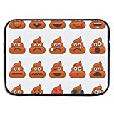 13 Inch Laptop Sleeve Briefcase Hipster Brown Emoji Poop Neoprene Waterproof Handbag Protective Bag Cover Case for Surface Laptop/Notebook/Acer/Asus/Dell/Lenovo/iPad/Surface Book