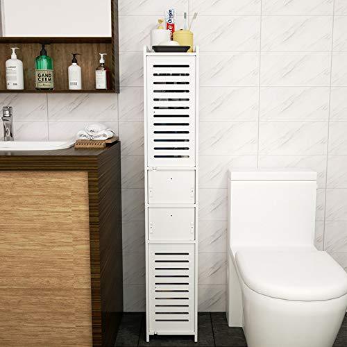 YORKING Badschrank Badezimmerschrank Hochschrank Unterschrank mit 2 Schubladen Badregal für Badezimmer aus Holz