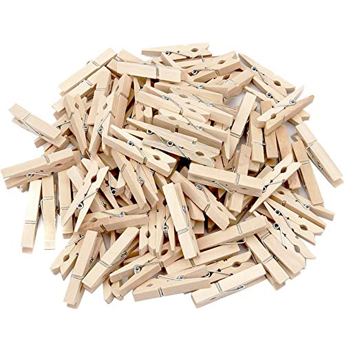 Labara Sturdy Natural Wood Clothespins 1 3/4