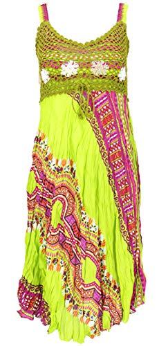 Guru-Shop, Boho Mini-jurk, Zomerjurk, Rimpeljurk, Wit, Synthetisch, Size:12, Korte Jurken