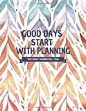 Good Days Start With Planning 2020 Weekly Planner full 1 Year: 12 Month Yearly Planner Monthly Calendar Agenda Schedule Organizer with Federal ... 1 Year Weekly Planner) Autumn leaves Cover