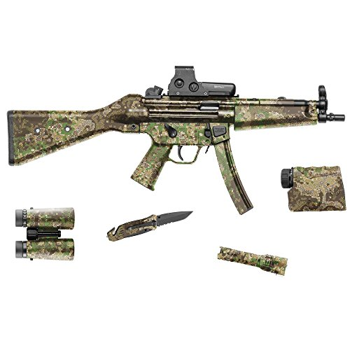 GunSkins Tactical Gear Skin Camouflage Kit DIY Vinyl Wrap 20,3 x 127 cm Blatt, PenCott GreenZone