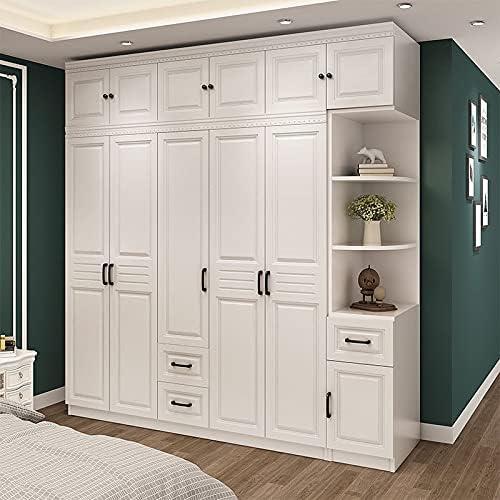 TANGIST a prueba de polvo Almacenamiento de madera Instalación de envío gratuito Muebles de madera integral para almacenamiento de dormitorio Plato de seis puertas Plato de armario Instalación fácil
