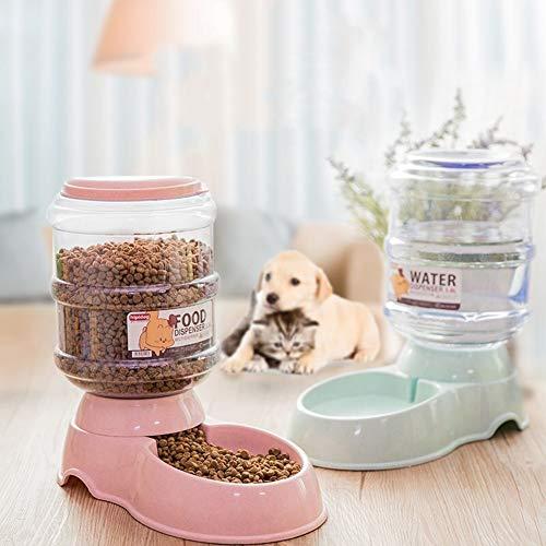 Pet Feeder Hunde- und Katzenfutter Schalen, Hund und Katze Feeders, Großer Drinkers, automatische Hundefutter Dispensers Automatische Zuführung (Color : Shallow Pink Waterer)