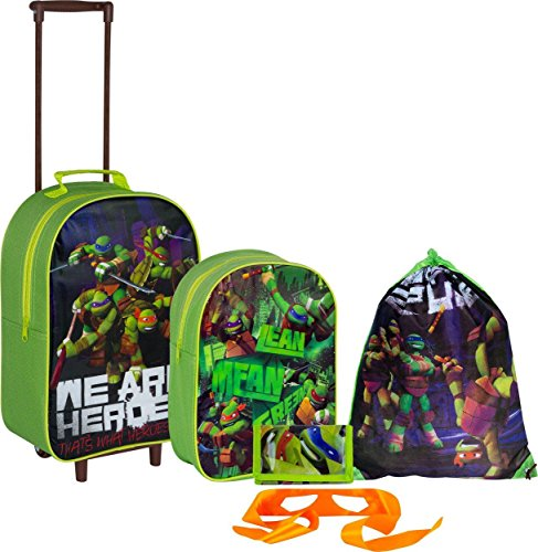 Teenage Mutant Ninja Turtles 5 Piece Luggage Set - Green