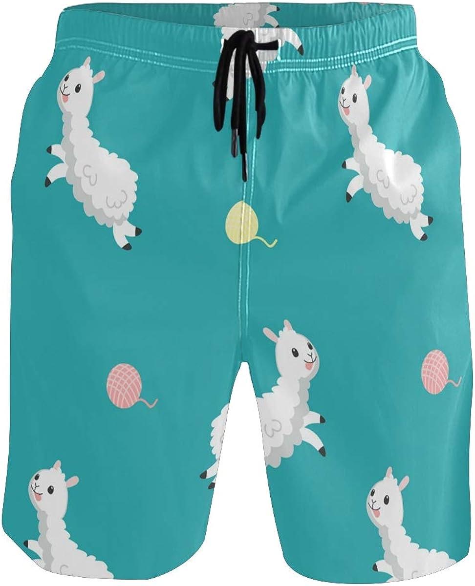 Sinestour Mens Swim Trunks Quick Dry Alpaca Ballon Beach Swimwear Shorts Beach Shorts