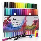 HELESIN Filzstifte, Doppelseitig Brush Pen Set, 36 Farben Pinselstifte, Handlettering Stifte,...
