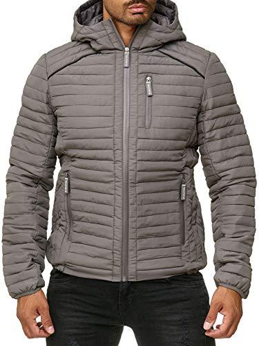 Sublevel Herren Jacke Blouson Gefüttert, Farben:Grau, Größe Jacken:XL