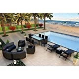 Harmonia Living Urbana 18 Piece Patio Conversation Set in Indigo