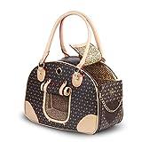 BELLAMORE cadeau sac de transport pour animaux de compagnie lit de chat lapin sac à main compagnie aérienne approuvé en cuir PU pour les voyages en plein air marche randonnée