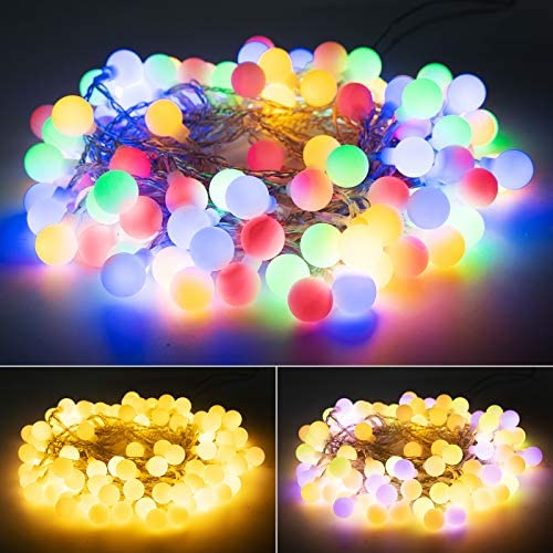 33 Feet 100 Led Globe Ball String Lights USB Fairy String Lights Plug in 8 Modes with Remote product image