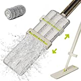 Floor Mop, HoMettler Microfiber Mop with Self Wringer Set, Hardwood Mops for Cleaning, Wet & Dry, No Hand Washing Lazy Flat Mop with Washable Pads for Tile, Laminate, Wooden Floor, Commercial Use
