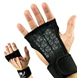 Mava Sports Cross Training Gloves with Wrist Support, Medium - Black